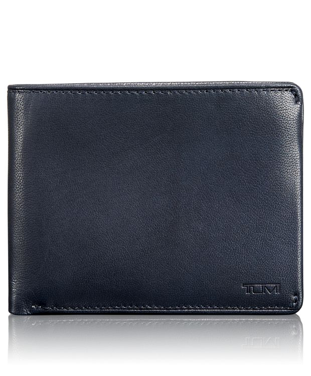 TUMI ID Lock™ Global Double Billfold with ID in Navy