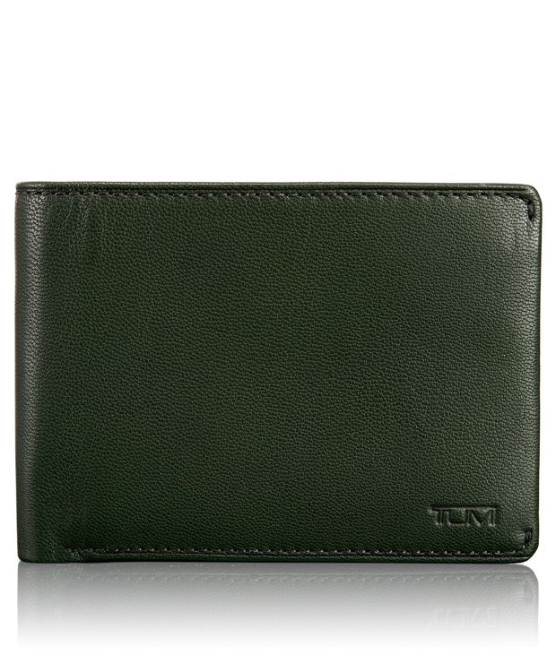 TUMI ID Lock™ Double Billfold with ID in Hunter