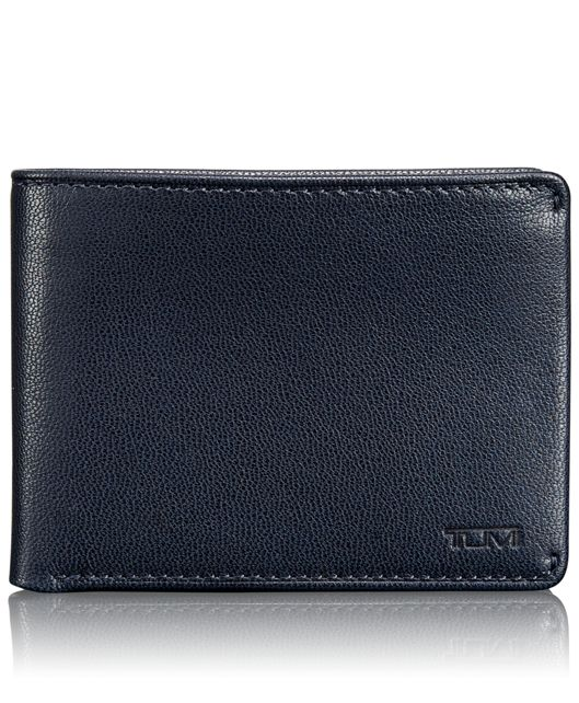 TUMI ID Lock™ Double Billfold with ID in Navy