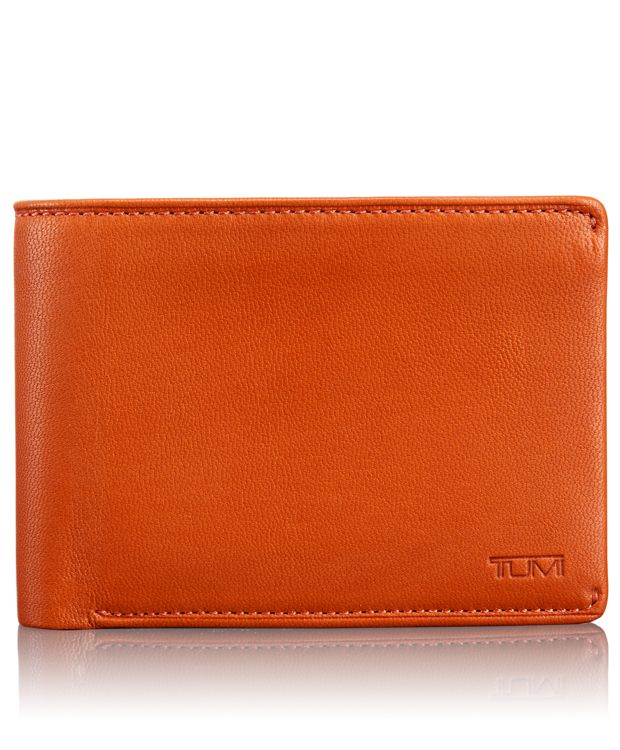 TUMI ID Lock™ Double Billfold with ID in Orange