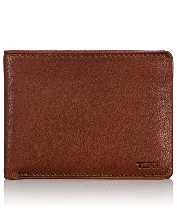 TUMI ID Lock™ Double Billfold with ID in Teak