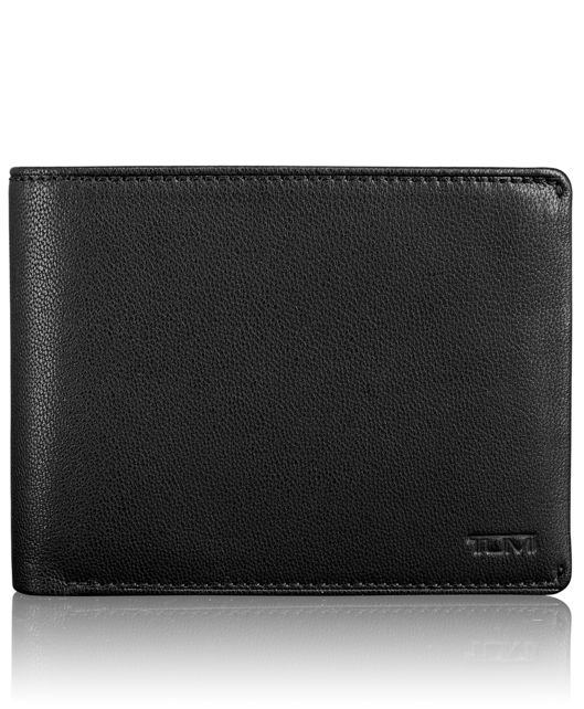 TUMI ID Lock™ Global Double Billfold with Snap in Black