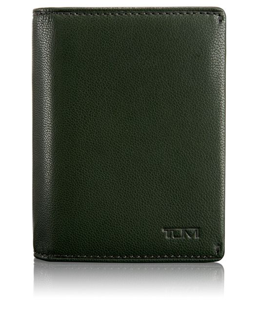 TUMI ID Lock™ Gusseted Card Case in Hunter