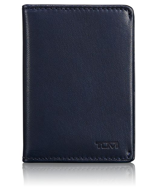 TUMI ID Lock™ Gusseted Card Case in Navy