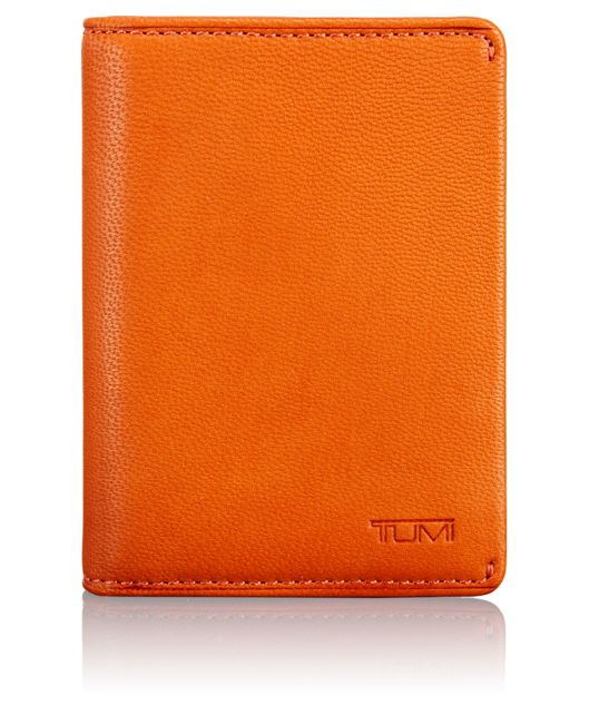 TUMI ID Lock™ Gusseted Card Case in Orange