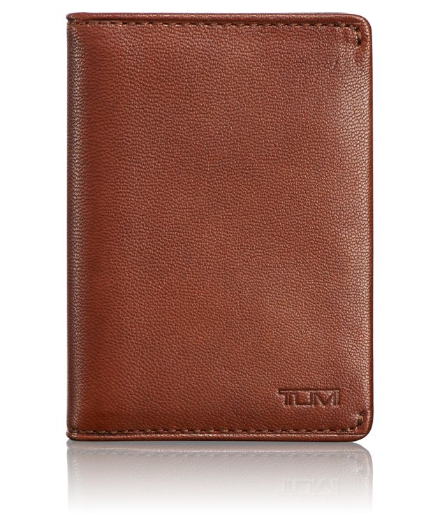 TUMI ID Lock™ Gusseted Card Case in Teak