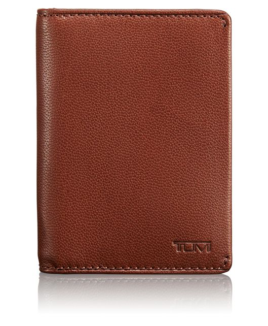 TUMI ID Lock™ Folding Card Case in Teak