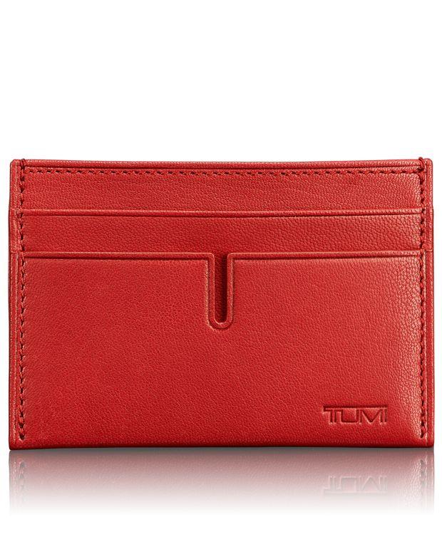 TUMI ID Lock™ Slim Card Case in Crimson
