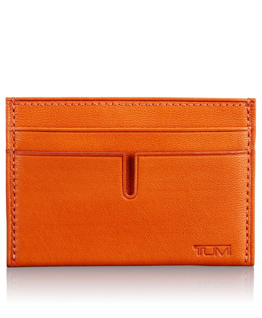 TUMI ID Lock™ Slim Card Case in Orange