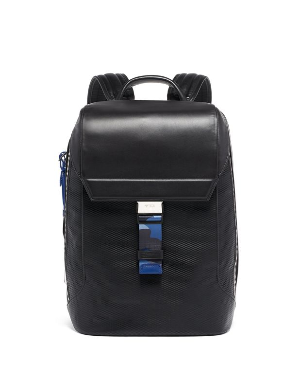 Dolton Flap Backpack Leather in Camo