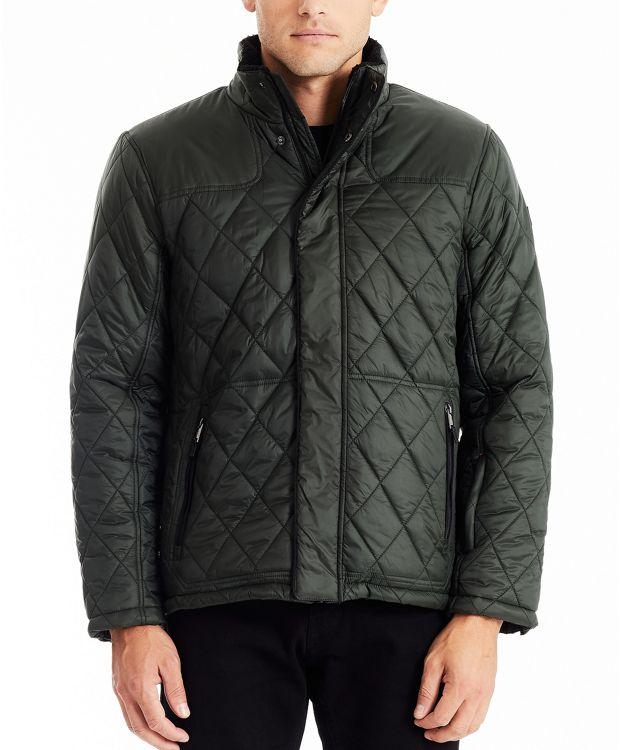 Men's Luxe Quilt Jacket in Seaweed
