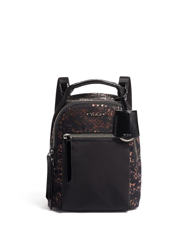 Serra Mini Convertible Backpack in Metallic Splatter