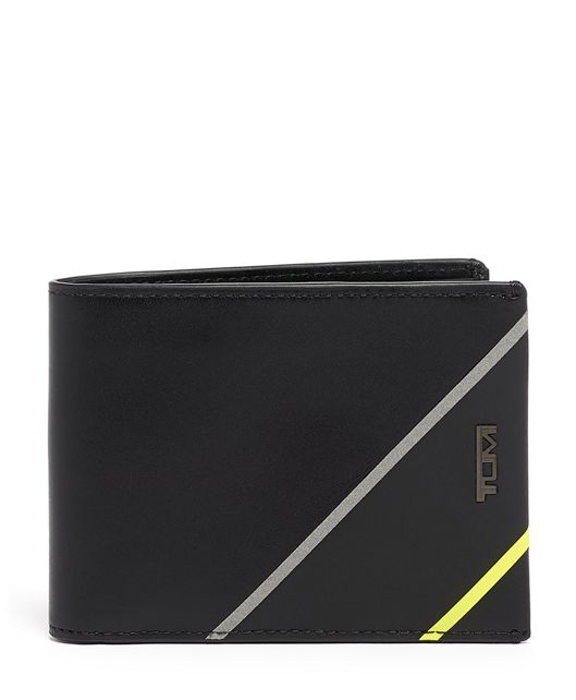 Double Billfold in Black/Bright Lime