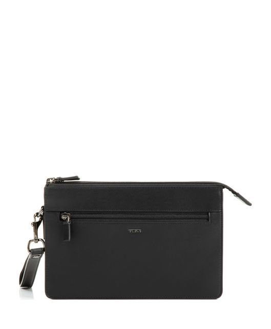 DOUBLE ZIP CLUTCH BLK SMOOTH - large | Tumi Thailand