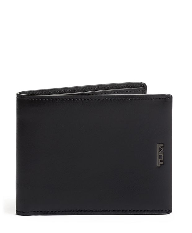 Black  Smooth Global Wallet with Coin Pocket
