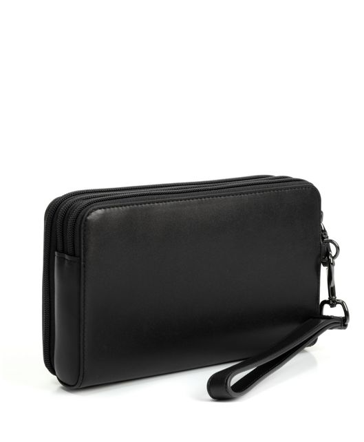 TRIPLE ZIP CLUTCH BLK SMOOTH - large | Tumi Thailand