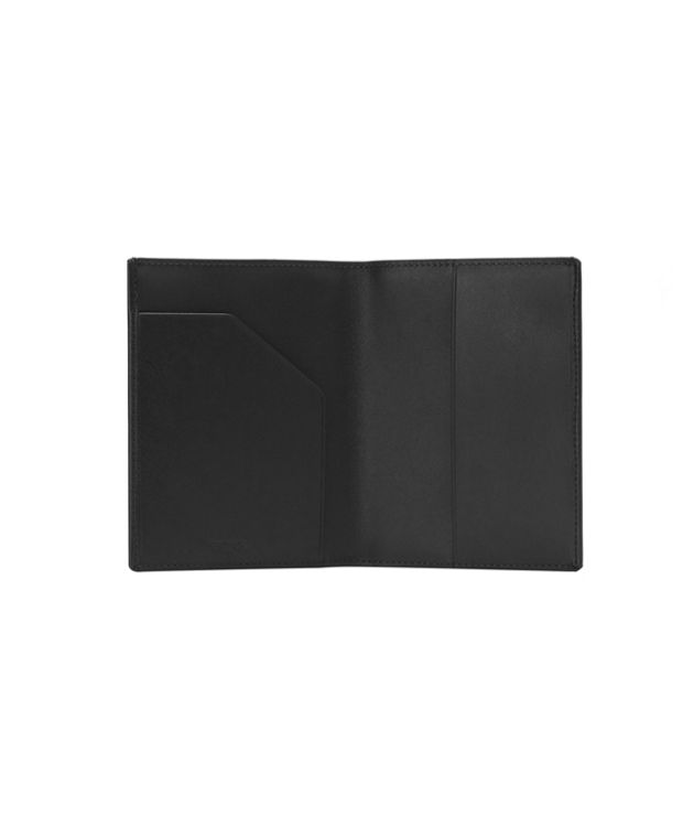 Black  Smooth Passport Cover