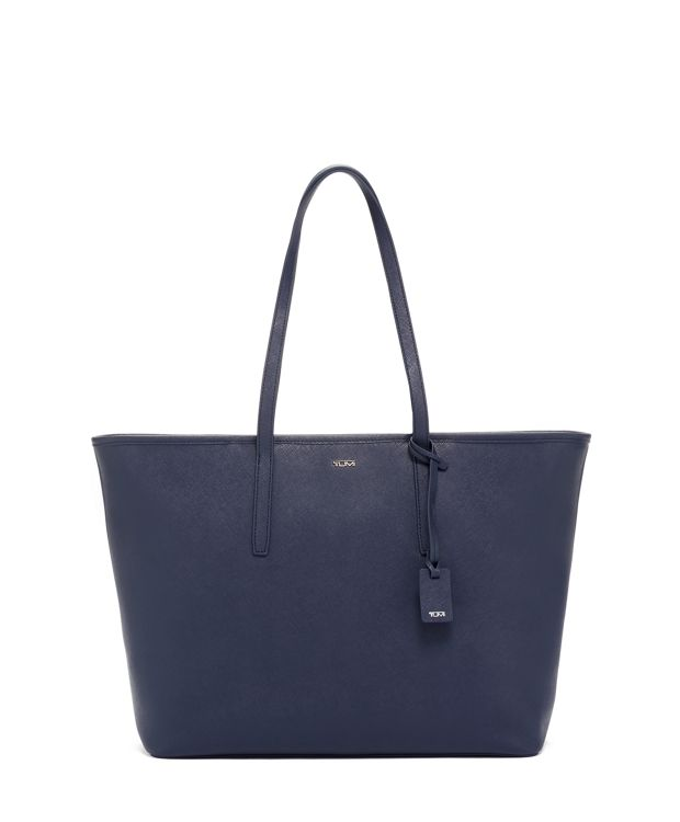 Everyday Tote Leather in Navy