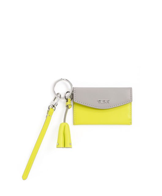 Card Case Charm in Grey/Bright Lime