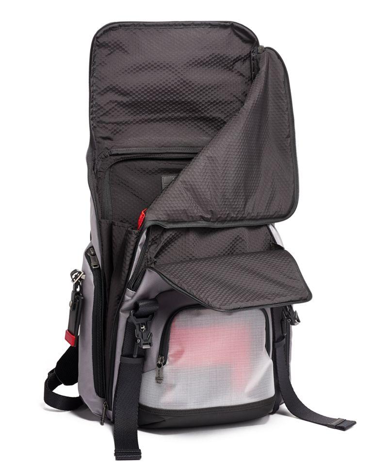 Grey/Bright  Red Lark Backpack