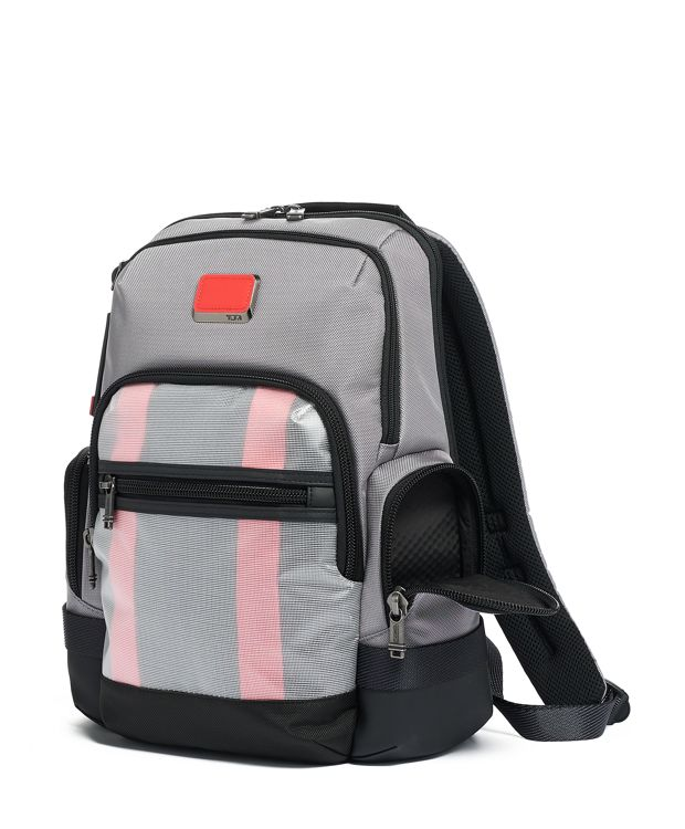 Grey/Bright  Red Norman Backpack