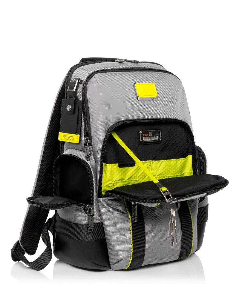 Grey/Bright  Lime Norman Backpack