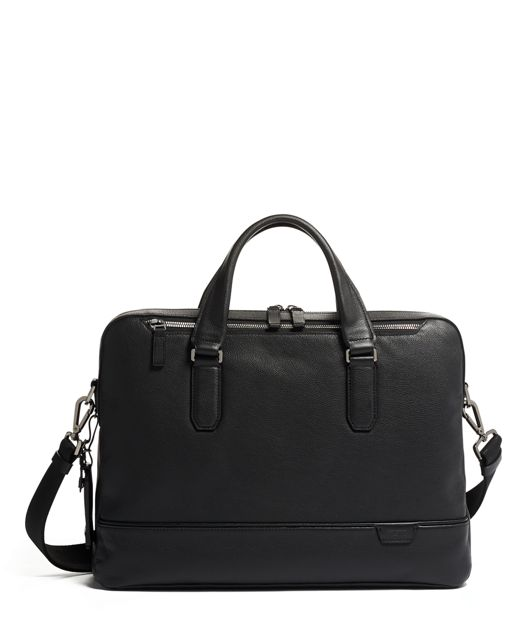 Barnes Brief Leather in Black Leather