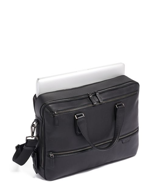 HARROW DOUBLE ZIP BRIEF BLACK - large | Tumi Thailand