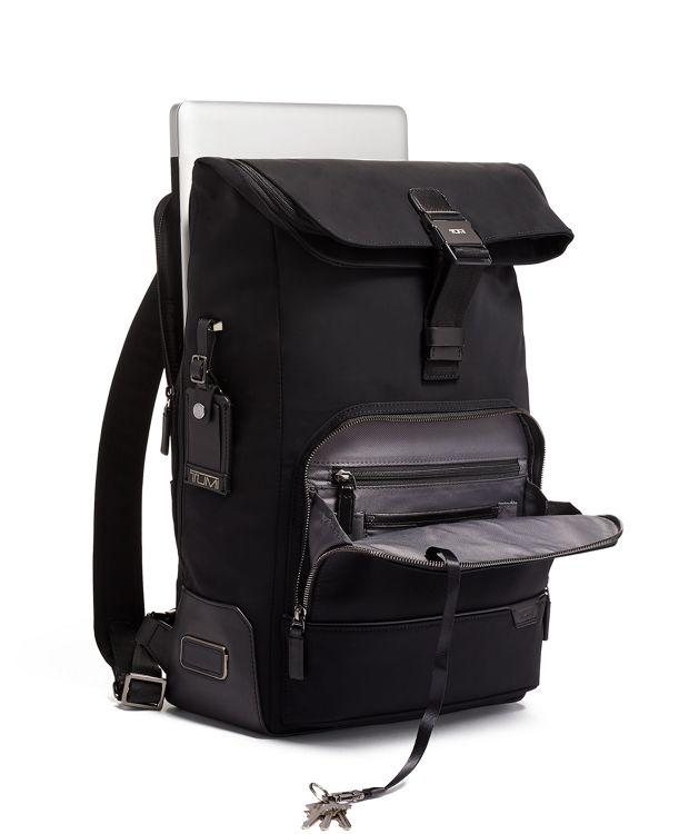 Black Osborn Roll Top Backpack