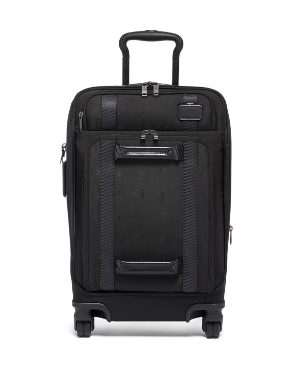 Black International Front Lid 4 Wheeled Carry-On