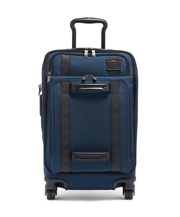 Navy International Front Lid 4 Wheeled Carry-On