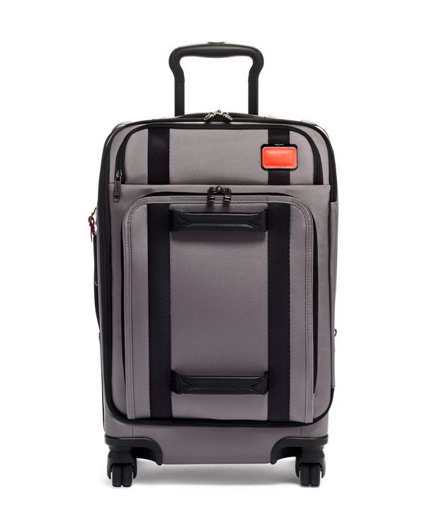 Grey/Bright  Red International Front Lid 4 Wheeled Carry-On