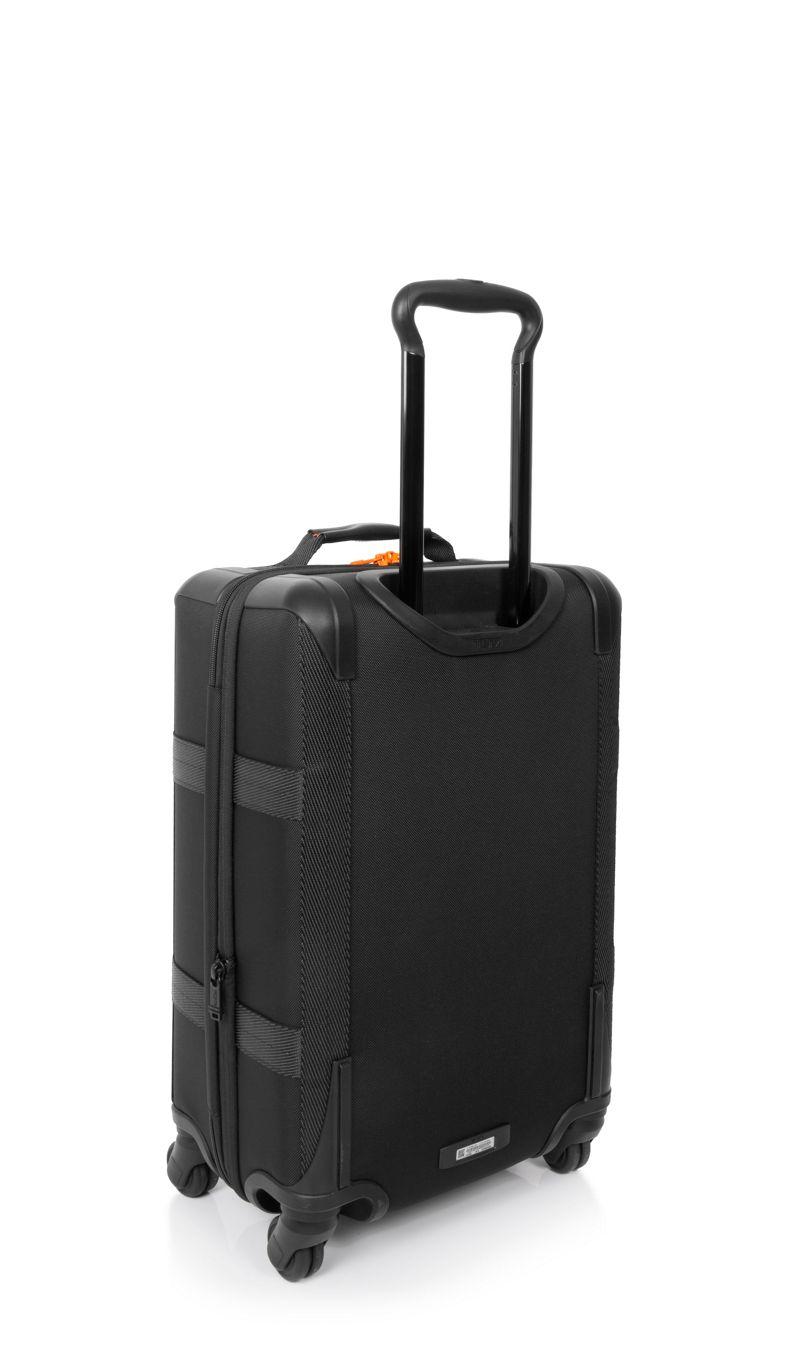 黑/橙国际旅行前盖可扩展登机箱