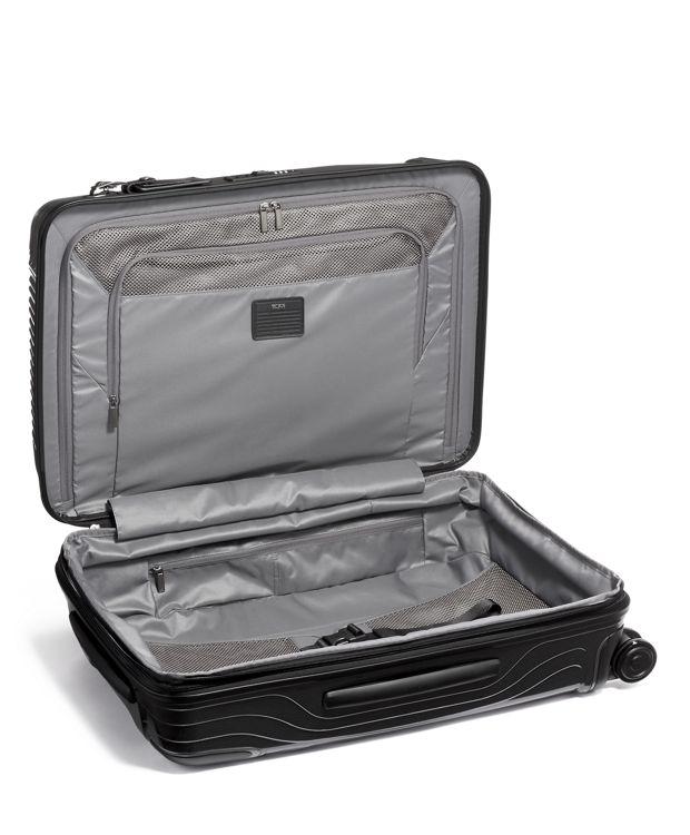 黑短途旅行可扩展行李箱