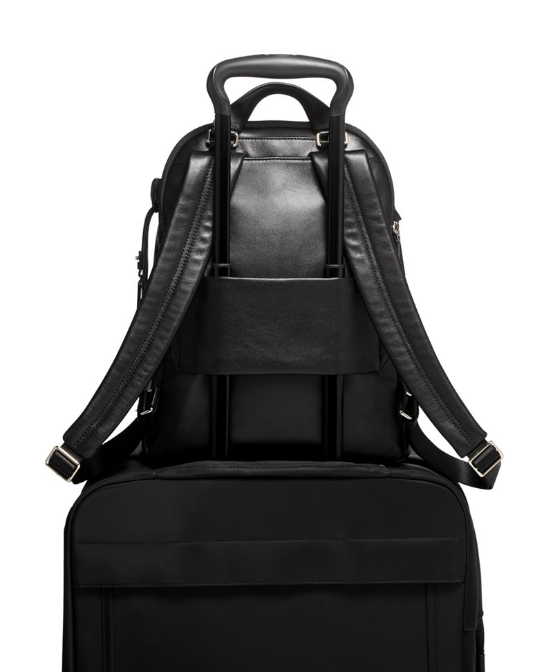 Black  Leather HANNAH BACKPACK