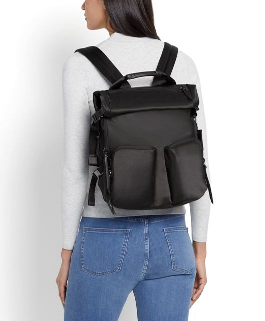 NORTH ROLL TOP BACKPACK black - large | Tumi Thailand