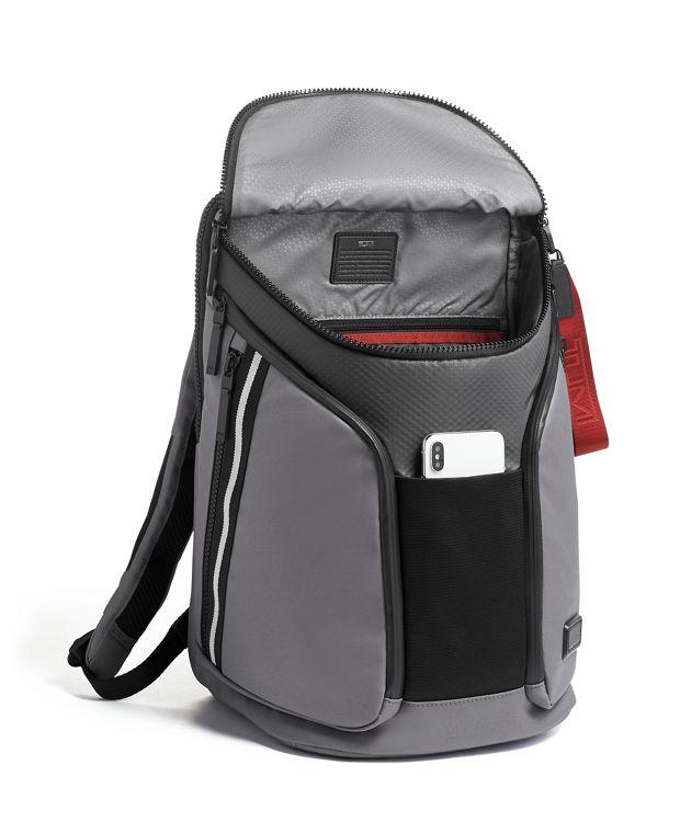 Grey  Embossed Ridgewood Backpack