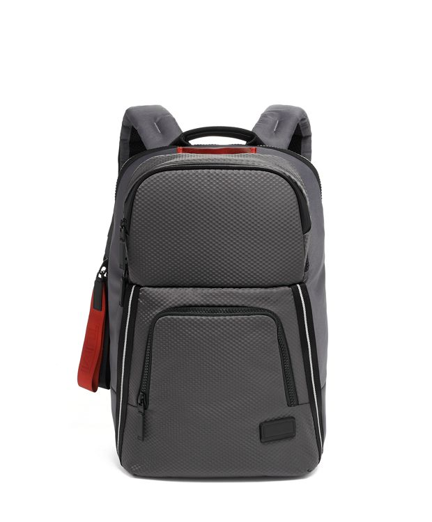 Grey  Embossed Westlake Backpack