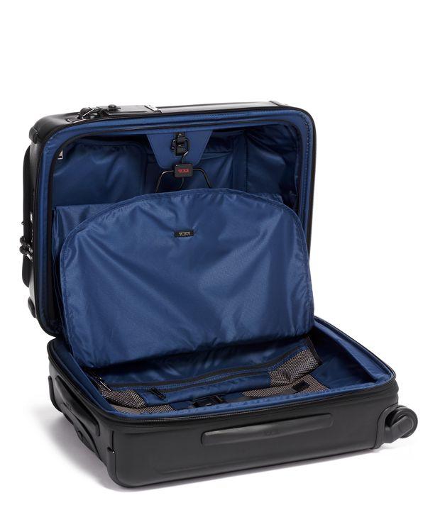 碳黑洲際雙拉鍊四輪手提行李箱