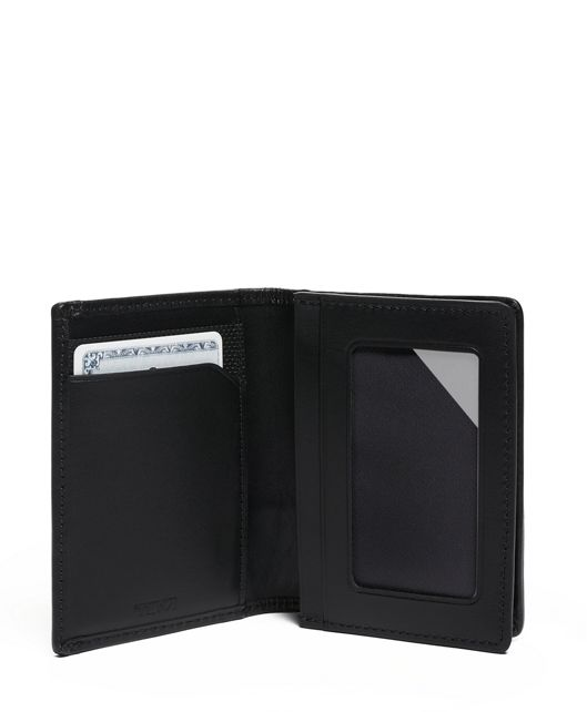 GUSSETED CARD CASE Black - large | Tumi Thailand