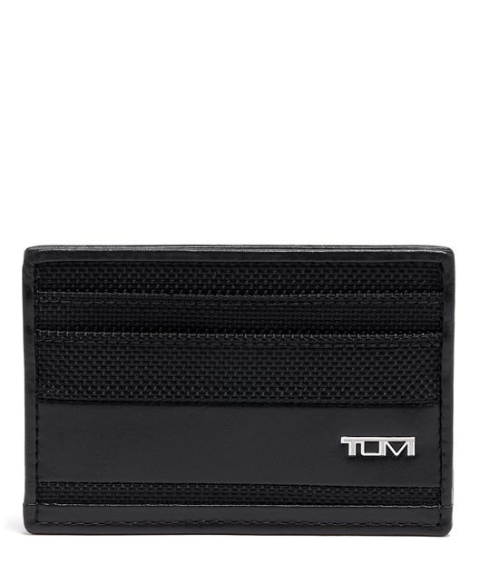 SLIM CARD CASE Black - large | Tumi Thailand