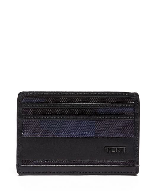 SLIM CARD CASE Nvy Cam/Bk - large | Tumi Thailand