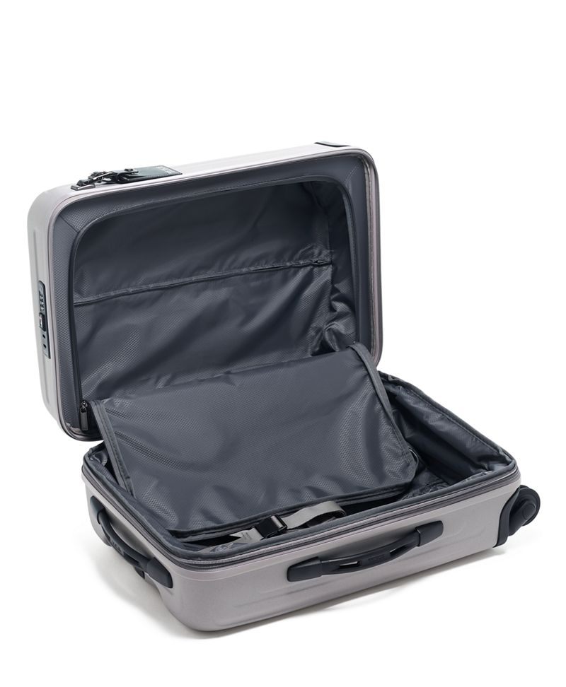 Soft  Grey International Expandable 4 Wheeled Carry-On