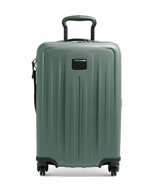 翡翠綠可擴充國際四輪手提行李箱