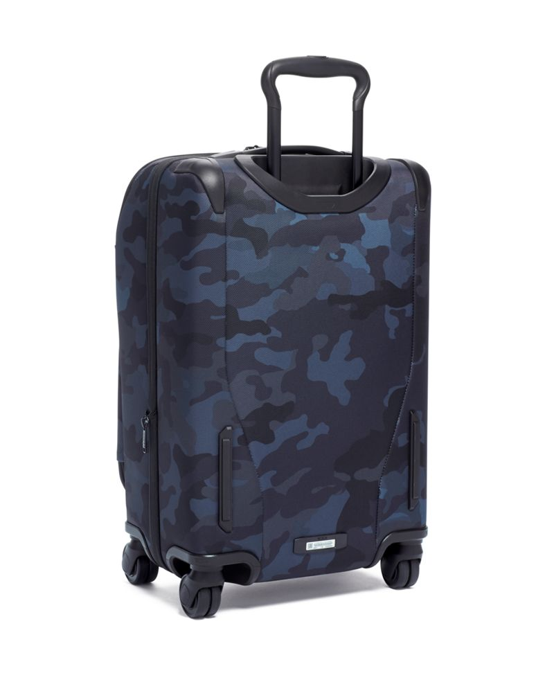 Navy  Camo International Front Lid 4 Wheeled Carry-On