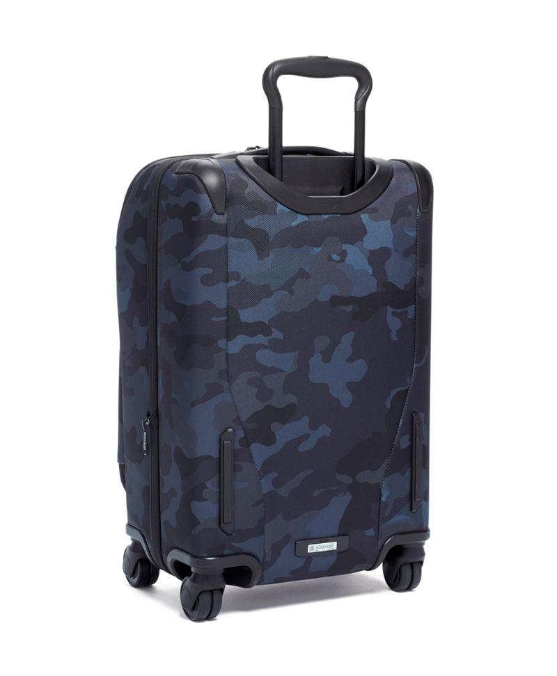 迷彩藍前蓋國際四輪手提行李箱