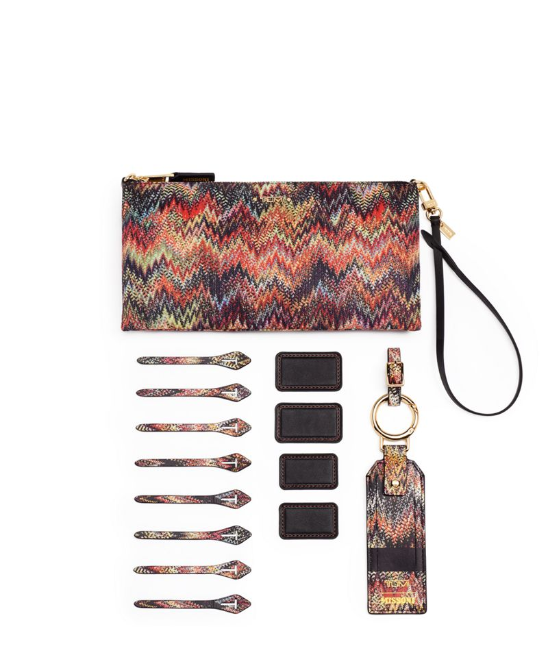 Snake  ZigZag TUMI Accent Pouch