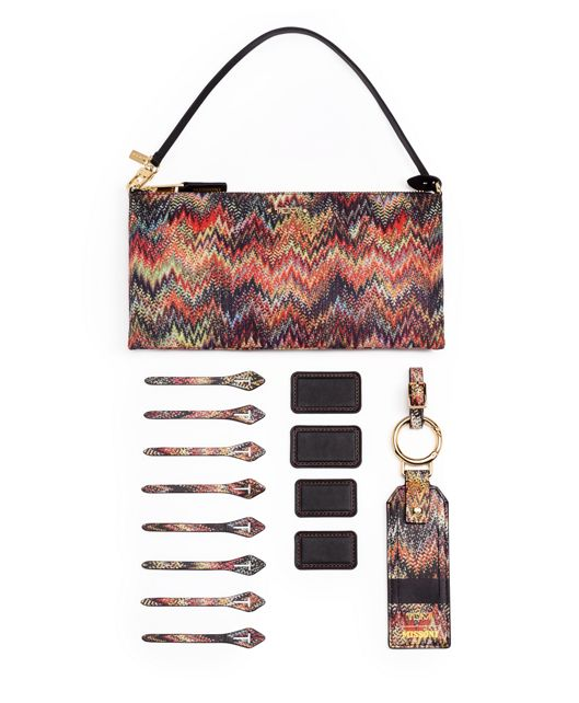 TUMI ACCENTS POUCH SNAKE ZIGZAG - large | Tumi Thailand