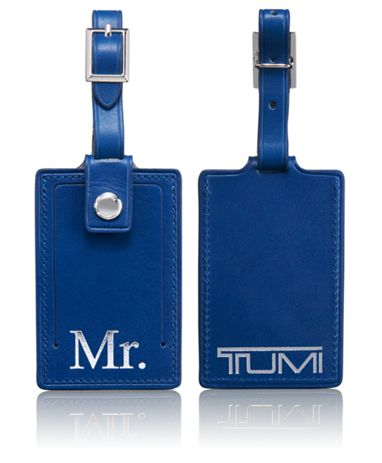 Mr. Luggage Tag in Blue