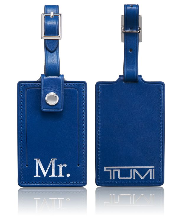 Mr. Luggage Tag in Blue